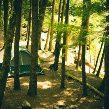 Off-the-grid camping